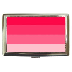 Pink Scarlet Gradient Stripes Pattern Cigarette Money Cases by yoursparklingshop