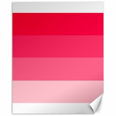 Pink Scarlet Gradient Stripes Pattern Canvas 16  X 20