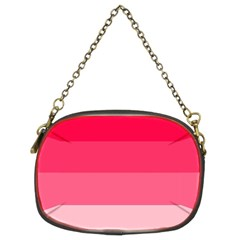 Pink Scarlet Gradient Stripes Pattern Chain Purses (two Sides)