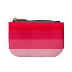 Pink Scarlet Gradient Stripes Pattern Mini Coin Purses