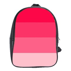 Pink Scarlet Gradient Stripes Pattern School Bag (large)