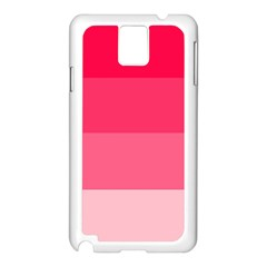 Pink Scarlet Gradient Stripes Pattern Samsung Galaxy Note 3 N9005 Case (white)