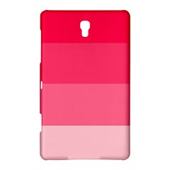 Pink Scarlet Gradient Stripes Pattern Samsung Galaxy Tab S (8 4 ) Hardshell Case