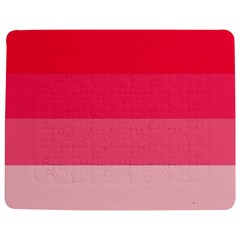 Pink Scarlet Gradient Stripes Pattern Jigsaw Puzzle Photo Stand (rectangular)
