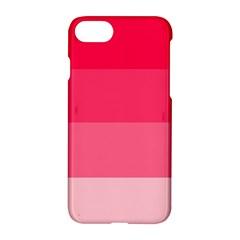 Pink Scarlet Gradient Stripes Pattern Apple Iphone 8 Hardshell Case