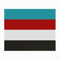 Dark Turquoise Deep Red Gray Elegant Striped Pattern Small Glasses Cloth