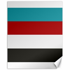 Dark Turquoise Deep Red Gray Elegant Striped Pattern Canvas 16  X 20