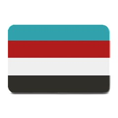 Dark Turquoise Deep Red Gray Elegant Striped Pattern Plate Mats