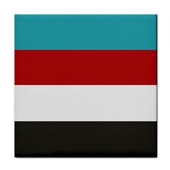 Dark Turquoise Deep Red Gray Elegant Striped Pattern Face Towel