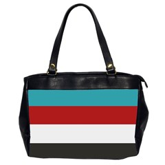 Dark Turquoise Deep Red Gray Elegant Striped Pattern Office Handbags (2 Sides)  by yoursparklingshop