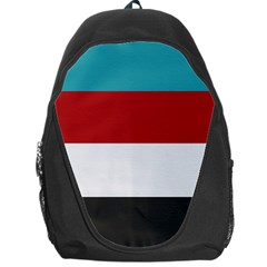 Dark Turquoise Deep Red Gray Elegant Striped Pattern Backpack Bag