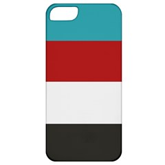 Dark Turquoise Deep Red Gray Elegant Striped Pattern Apple Iphone 5 Classic Hardshell Case