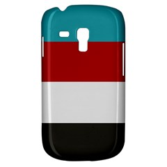 Dark Turquoise Deep Red Gray Elegant Striped Pattern Galaxy S3 Mini