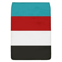 Dark Turquoise Deep Red Gray Elegant Striped Pattern Flap Covers (l)