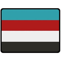 Dark Turquoise Deep Red Gray Elegant Striped Pattern Double Sided Fleece Blanket (large)