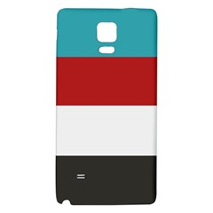 Dark Turquoise Deep Red Gray Elegant Striped Pattern Galaxy Note 4 Back Case