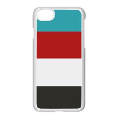 Dark Turquoise Deep Red Gray Elegant Striped Pattern Apple Iphone 8 Seamless Case (white)