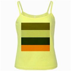 Orange Sand Charcoal Stripes Pattern Striped Elegant Yellow Spaghetti Tank