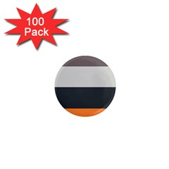 Orange Sand Charcoal Stripes Pattern Striped Elegant 1  Mini Magnets (100 Pack)  by yoursparklingshop