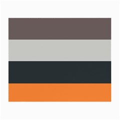 Orange Sand Charcoal Stripes Pattern Striped Elegant Small Glasses Cloth (2 Side)