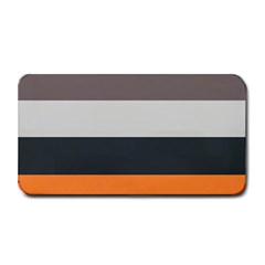 Orange Sand Charcoal Stripes Pattern Striped Elegant Medium Bar Mats