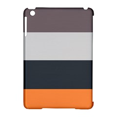 Orange Sand Charcoal Stripes Pattern Striped Elegant Apple Ipad Mini Hardshell Case (compatible With Smart Cover)