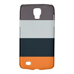 Orange Sand Charcoal Stripes Pattern Striped Elegant Galaxy S4 Active