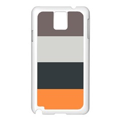 Orange Sand Charcoal Stripes Pattern Striped Elegant Samsung Galaxy Note 3 N9005 Case (white)