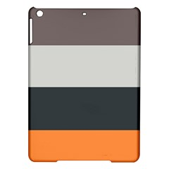 Orange Sand Charcoal Stripes Pattern Striped Elegant Ipad Air Hardshell Cases
