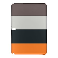 Orange Sand Charcoal Stripes Pattern Striped Elegant Samsung Galaxy Tab Pro 10 1 Hardshell Case