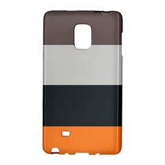 Orange Sand Charcoal Stripes Pattern Striped Elegant Galaxy Note Edge by yoursparklingshop
