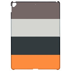 Orange Sand Charcoal Stripes Pattern Striped Elegant Apple Ipad Pro 12 9   Hardshell Case by yoursparklingshop