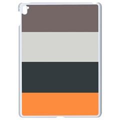 Orange Sand Charcoal Stripes Pattern Striped Elegant Apple Ipad Pro 9 7   White Seamless Case
