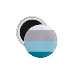 Blue Gray Striped Pattern Horizontal Stripes 1 75  Magnets