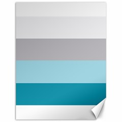 Blue Gray Striped Pattern Horizontal Stripes Canvas 12  X 16