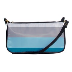 Blue Gray Striped Pattern Horizontal Stripes Shoulder Clutch Bags