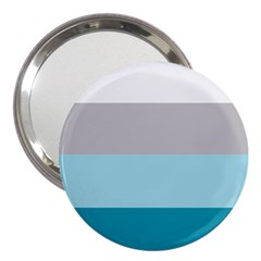 Blue Gray Striped Pattern Horizontal Stripes 3  Handbag Mirrors