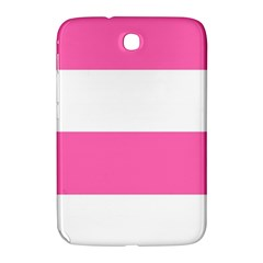 Horizontal Pink White Stripe Pattern Striped Samsung Galaxy Note 8 0 N5100 Hardshell Case