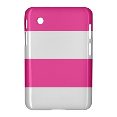 Horizontal Pink White Stripe Pattern Striped Samsung Galaxy Tab 2 (7 ) P3100 Hardshell Case