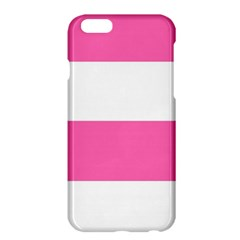 Horizontal Pink White Stripe Pattern Striped Apple Iphone 6 Plus/6s Plus Hardshell Case