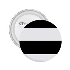 Black And White Striped Pattern Stripes Horizontal 2 25  Buttons