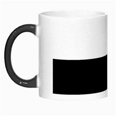 Black And White Striped Pattern Stripes Horizontal Morph Mugs