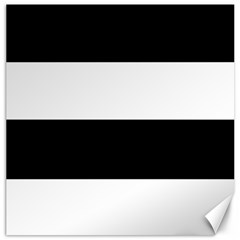 Black And White Striped Pattern Stripes Horizontal Canvas 16  X 16