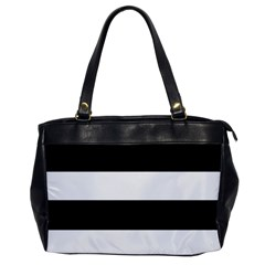 Black And White Striped Pattern Stripes Horizontal Office Handbags