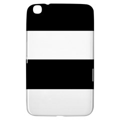 Black And White Striped Pattern Stripes Horizontal Samsung Galaxy Tab 3 (8 ) T3100 Hardshell Case