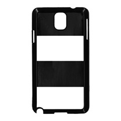 Black And White Striped Pattern Stripes Horizontal Samsung Galaxy Note 3 Neo Hardshell Case (black)