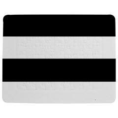 Black And White Striped Pattern Stripes Horizontal Jigsaw Puzzle Photo Stand (rectangular)