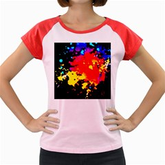 Colorfulpaintsptter Women s Cap Sleeve T Shirt