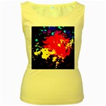 Colorfulpaintsptter Women s Yellow Tank Top
