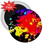 Colorfulpaintsptter 3  Magnets (10 pack)